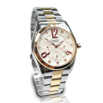 【Arseprince】鑠金方鑽時尚三眼中性錶-紅白色