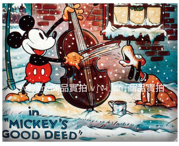 VIVI.ANI-迪士尼授權-米奇布魯托【冬季戀曲】單人兩件式床包組 含枕套