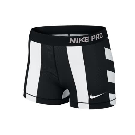 (女)NIKE PRO CORE COMPRESSION CIRCULO 短褲 黑/白-642559100
