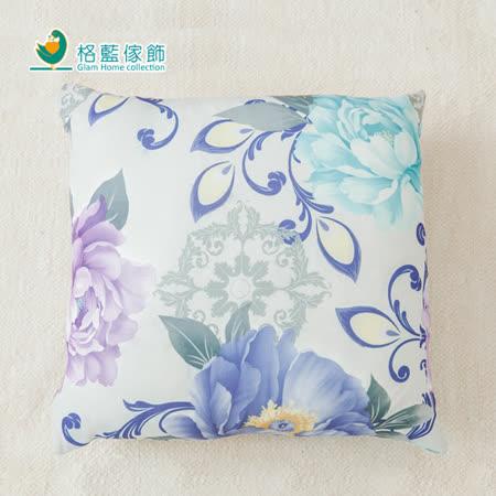 【格藍】印花抱枕套(42x42CM)-花影繽紛藍