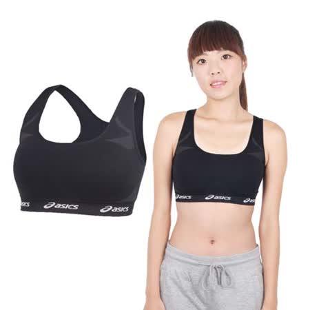 (女) ASICS 運動內衣- 韻律 有氧 運動背心 亞瑟士 黑