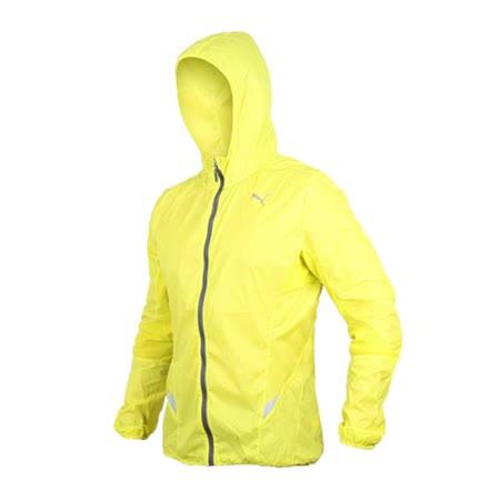 (男) PUMA 慢跑系列素色輕量連帽風衣外套- 路跑 防風 休閒外套 芥末黃灰