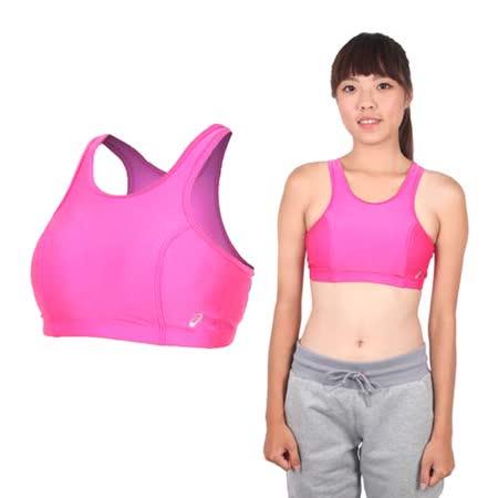 (女) ASICS 運動內衣- 背心 慢跑 路跑 亞瑟士 桃紅銀
