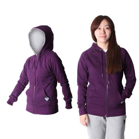 (女) NEWBALANCE 款連帽外套 - NB 運動外套 休閒外套  深紫