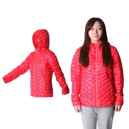(女) THE NORTH FACE TB保暖連帽外套 - 運動外套 暖魔球 橘紅