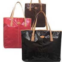 TODS 時尚亮面防水PVC皮飾邊大購物包(三款)