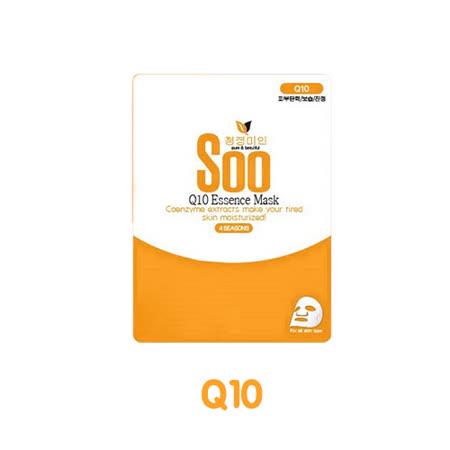 韓國 秀 SOO mask 四季水光保濕面膜系列 (23g/片)-Q10輔酶