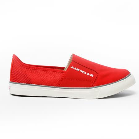 AIRWALK(女)  - LOGO 圖騰 懶人式直套帆布鞋 - 紅(品特)