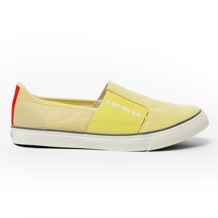 AIRWALK(女)  - LOGO 圖騰 懶人式直套帆布鞋 - 黃(品特)