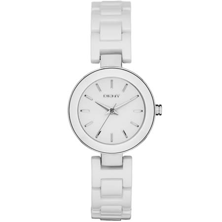 DKNY Stanhope 陶瓷佳人時尚腕錶-白/28mm NY2354