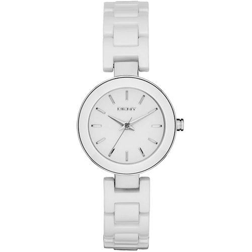 DKNY Stanhope 陶瓷佳人 腕錶~白28mm NY2354
