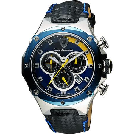 Tonino Lamborghini 藍寶堅尼 Metrpoplita 競速計時腕錶-藍圈 TL4621