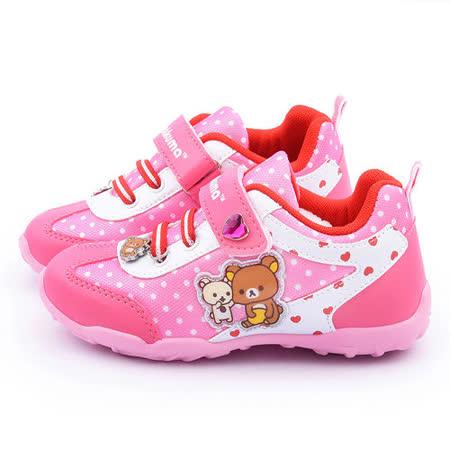 童鞋城堡-拉拉熊 中大童 甜美透氣運動鞋KM6677-桃