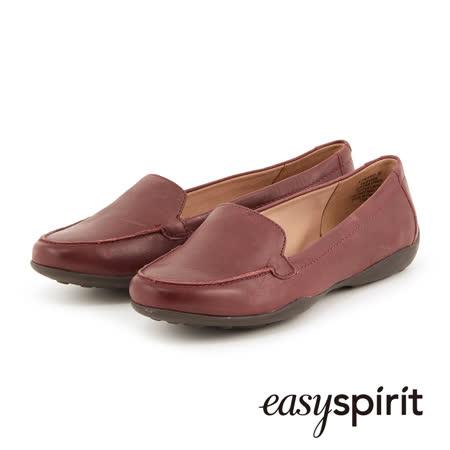 【好物分享】gohappy 線上快樂購Easy Spirit 舒適演繹真皮魅力樂福平底鞋--沉穩酒紅推薦遠東 百貨 成功 店