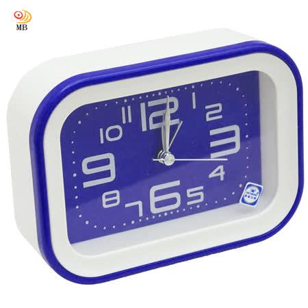 月陽長方型掛座2用純色經典掃秒靜音鬧鐘時鐘座鐘(SM030)