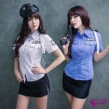 【Sexy Cynthia】藍黑二件式火辣女警角色扮演服