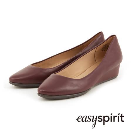【勸敗】gohappy 購物網Easy Spirit-- 素色經典羊皮低跟楔型包鞋--酒紅色哪裡買遠 百 happy go