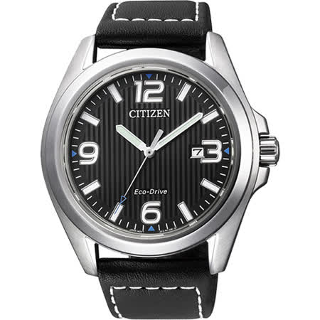 CITIZEN Eco-Drive 光動能城市腕錶-黑/43mm AW1430-19E