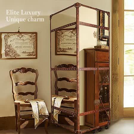 【MUSE】Louis路易十三復古工業風鏡面鋼紅酒收藏櫃