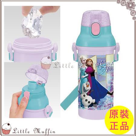 迪士尼 冰雪奇緣 彈蓋式直飲背帶水壺 480ml 日本製造 原版正品