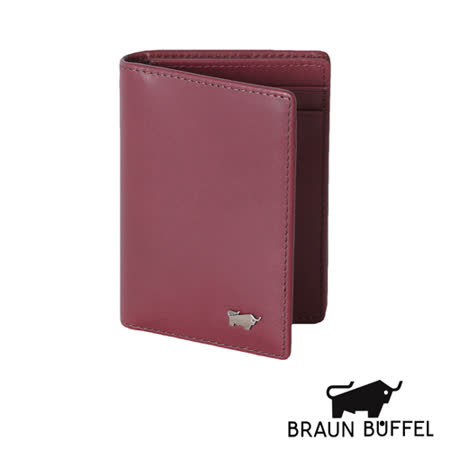 BRAUN BUFFEL 極簡系列素面名片夾(紅色)BF179-313-RD