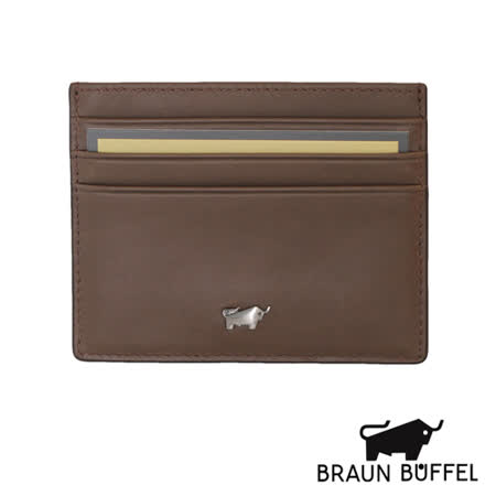 BRAUN BUFFEL 極簡系列素面單層卡夾(粟色)BF179-328-CHE