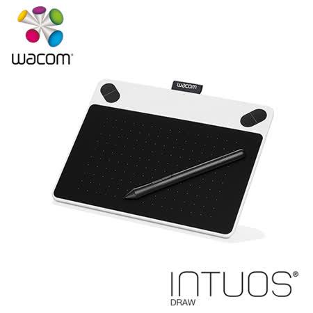 Wacom Intuos Draw 塗鴉 創意繪圖板-簡約白 CTL-490/W0-CX