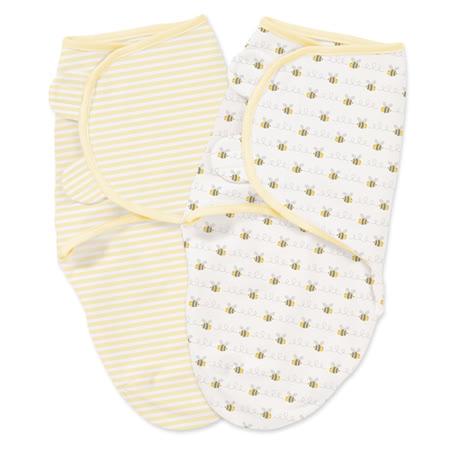 美國Summer Infant 聰明懶人育兒包巾-(小號)小蜜蜂條紋2入組