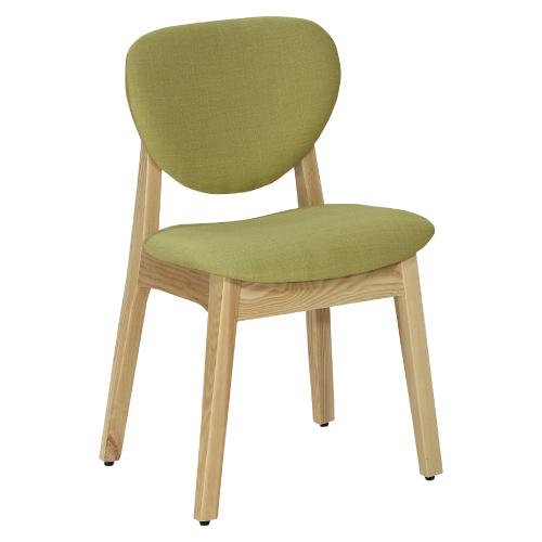 【幸福屋】卡地夫栓木綠色布餐椅