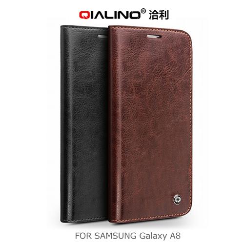 QIALINO 洽利 Samsung Galaxy A8 經典皮套