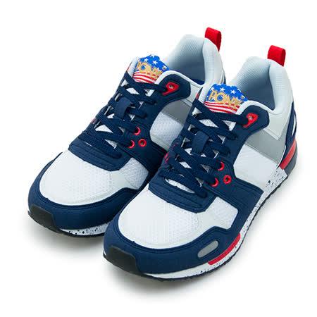 【男】PONY 繽紛韓風復古慢跑鞋 EMPIRE Campus系列 藍白紅 53M1EP63NB