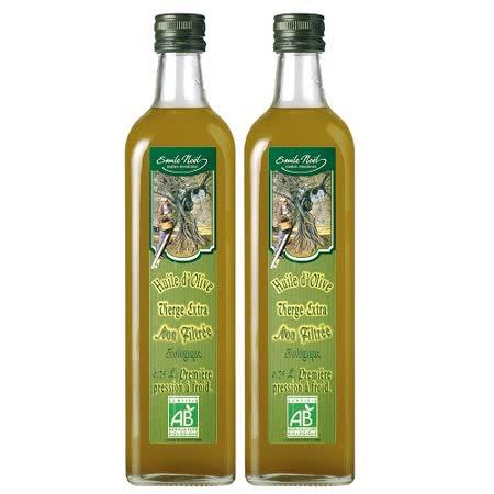 【法國艾米爾諾耶】100%有機西班牙巴埃納未濾冷壓初榨橄欖油(750ml)即期良品買一送一