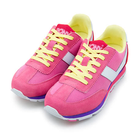 【女】PONY 繽紛韓風復古慢跑鞋 SOHO 冰淇淋系列 粉黃紅 53W1SO78PM