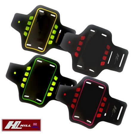 【HILL】5吋 可觸控運動型LED警示手機臂包(A2035)