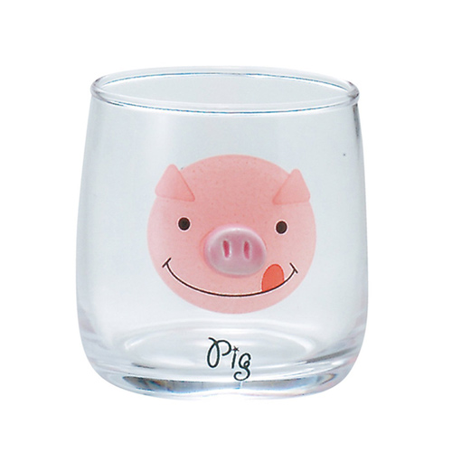 sunart 玻璃杯 小豬
