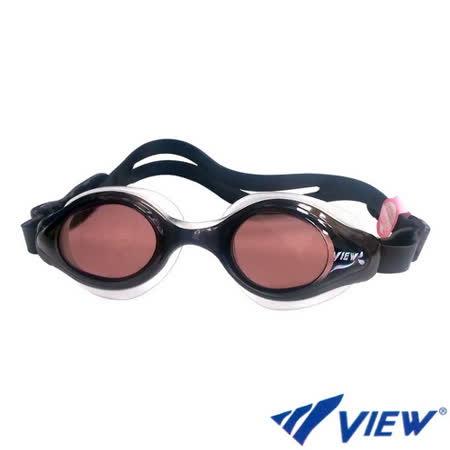 【VIEW】女性專用 泳鏡-茶黑色(V820)