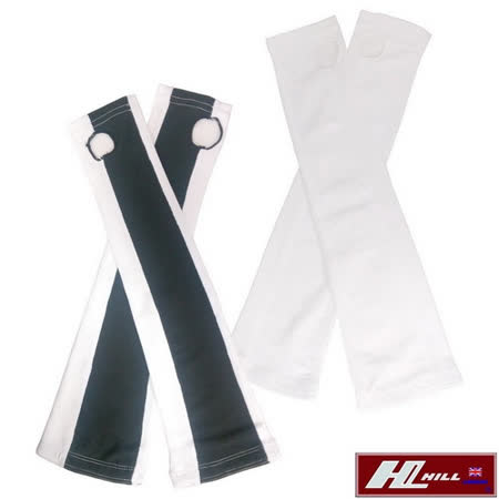 【HILL】台灣製 舒適涼感袖套(白/黑白)