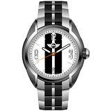 MINI Swiss Watches 雷霆奔馳獨立秒圈腕錶(銀黑/38mm) MINI-77