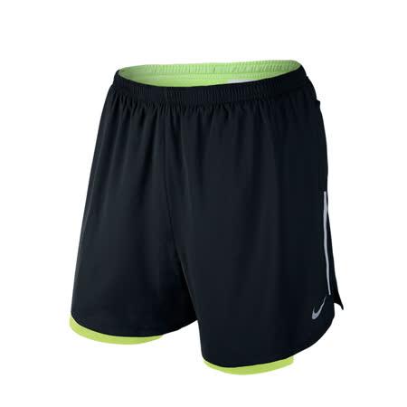(男)NIKE 5 PHENOM 2-IN-1 短褲 黑/螢光黃-683216010