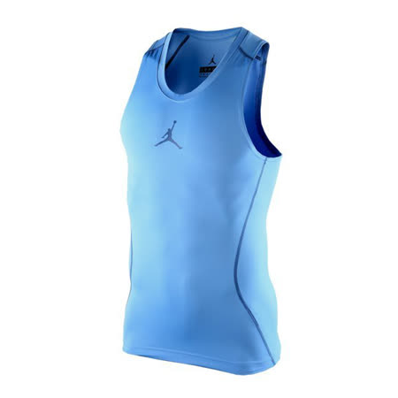 (男)NIKE JORDAN AJ ALL SEASON COMPRESSION 緊身背心 藍-683945412