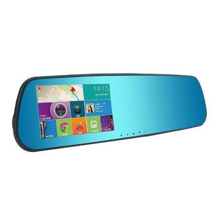 O'DEL  TP-768 GPS 後視鏡型 導航屏 東 愛 買+行車紀錄器