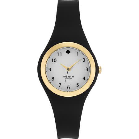Kate Spade Rumsey 趣味時尚腕錶-白x黑/32mm 1YRU0642