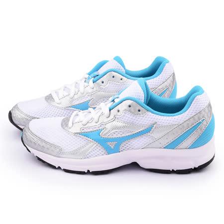 MIZUNO 女款 CRUSADER 9 慢跑鞋K1GA150432-銀藍