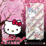 三麗鷗授權正版 Hello Kitty凱蒂貓 SONY Xperia Z3+ E6553透明軟式手機殼(熱線Kitty)