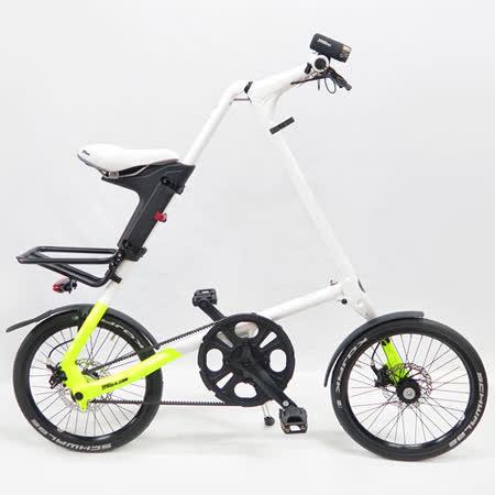 STRiDA 速立達 18吋SX 折疊單車(碟剎) 前後叉截色螢光黃-亮面白