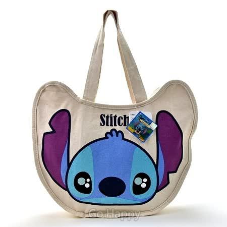 Disney【水汪汪史迪奇】輕巧帆布包