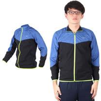 (男) MIZUNO 路跑風衣 - 慢跑 立領外套 運動外套 美津濃 黑藍