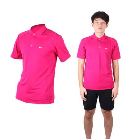 (男) NIKE GOLF 短袖POLO衫- 針織 立領 高爾夫 葡萄紫白