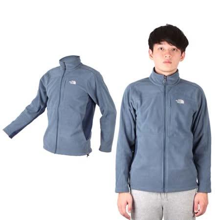 (男) THE NORTH FACE 保暖刷毛外套 - 立領外套 登山 戶外 灰藍