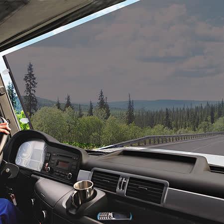 CARBUFF 車痴大型車用捲式遮陽簾(黑)70X140cm MH-4038 (卡車、遊覽車、巴士車適用)